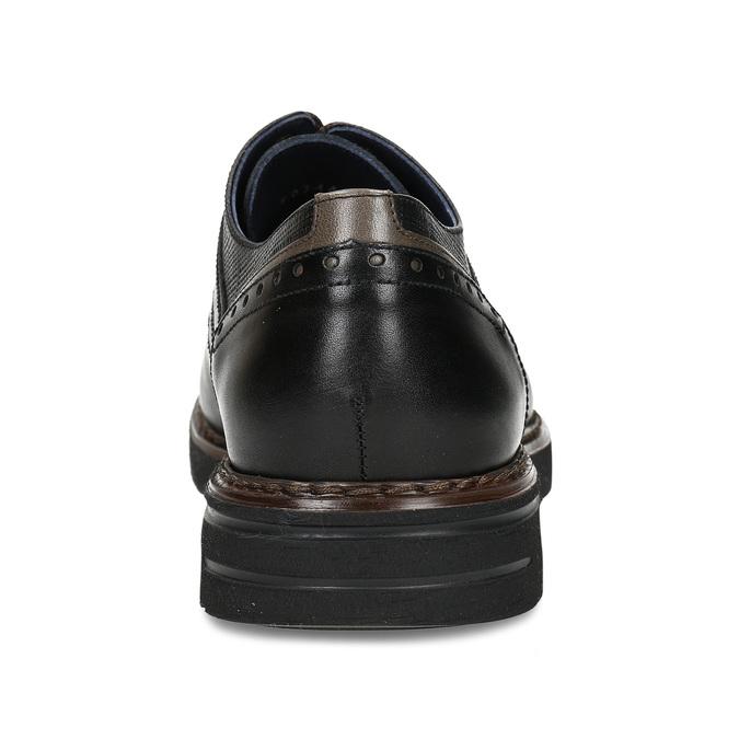 Pánské černé kožené polobotky fluchos, černá, 824-6727 - 15