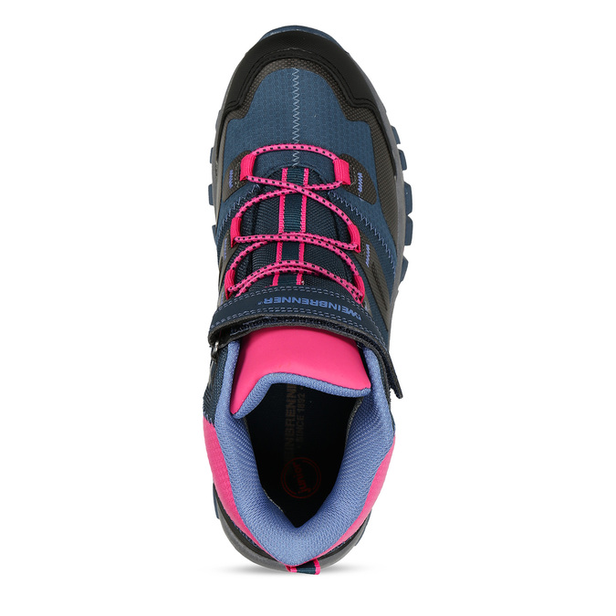 Modro-růžová dívčí obuv v outdoorovém stylu weinbrenner, modrá, 429-9621 - 17
