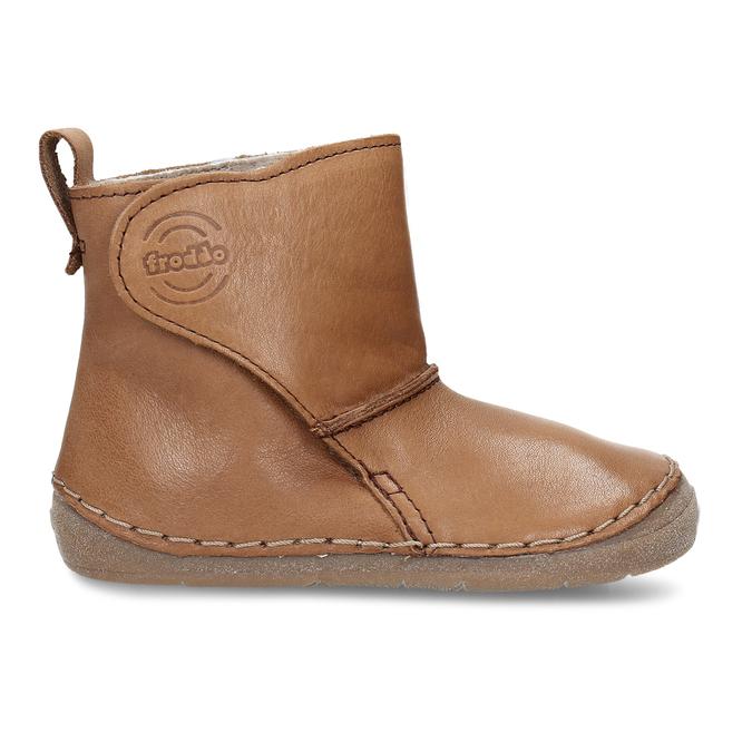 Kožená hnědá dětská zimní kotníková obuv froddo, hnědá, 194-4616 - 19