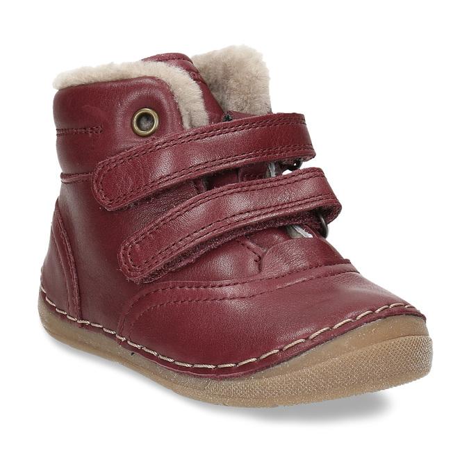 Dívčí vínový kožená zimní obuv froddo, červená, 194-5610 - 13