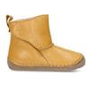 Žluté kožená dětská kotníková obuv s kožíškem froddo, žlutá, 194-8616 - 19