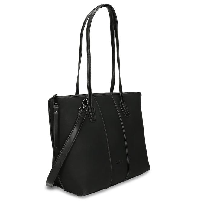 Dámská černá kabelka s úzkými uchy gabor, černá, 961-6887 - 13