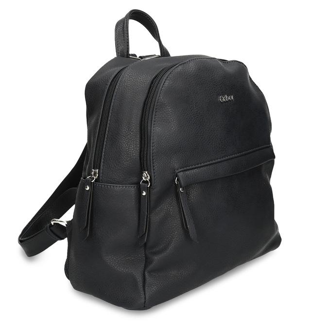 Dámský koženkový batoh v černé barvě gabor, černá, 961-6880 - 13