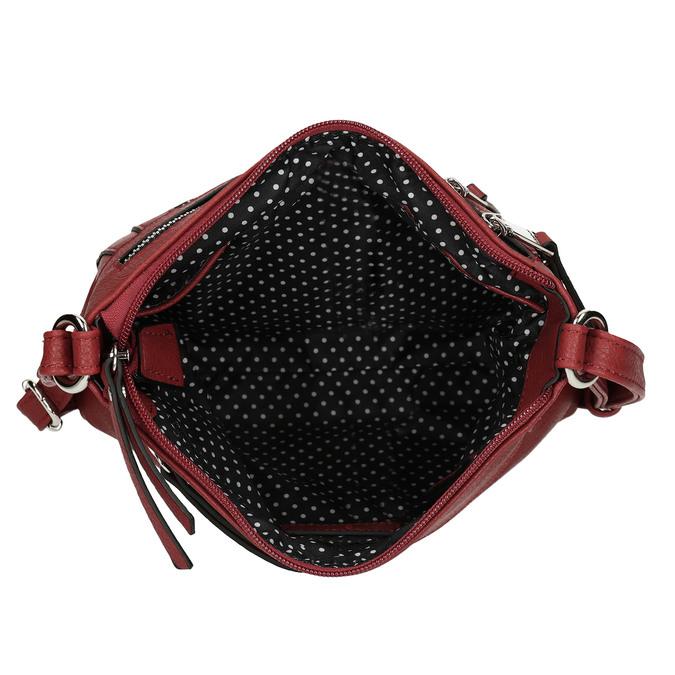 Dámská terakotová kabelka se dvěma zipy gabor, červená, 961-5805 - 15