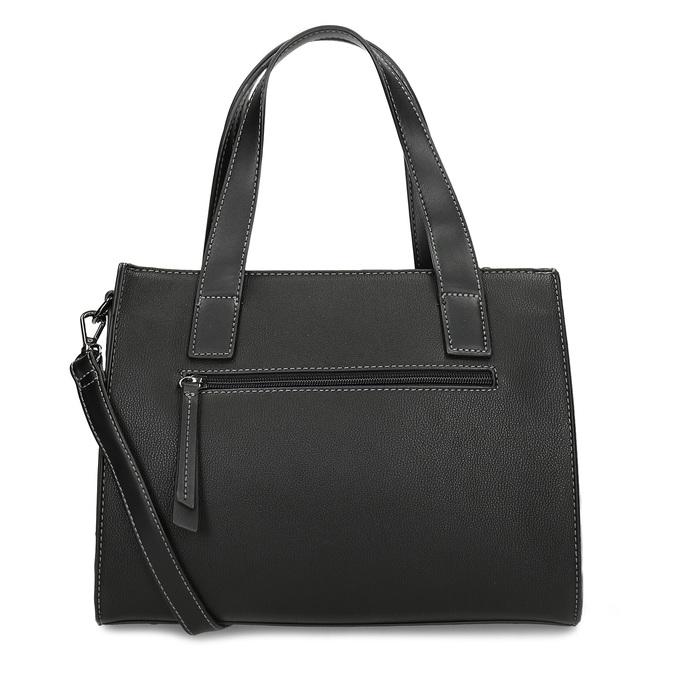 Černá kabelka s výraznými přezkami gabor, černá, 961-6813 - 16