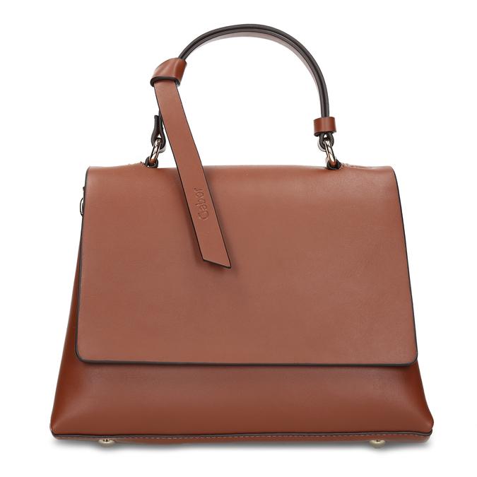 Hnědá dámská kabelka s klopou gabor, hnědá, 961-3805 - 26