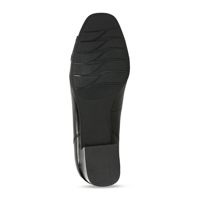Černé kožené lodičky s výraznou přezkou na špičce bata, černá, 624-6628 - 18