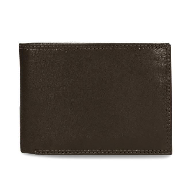 Minimalistická pánská peněženka v hnědé kůži bata, hnědá, 944-4127 - 26
