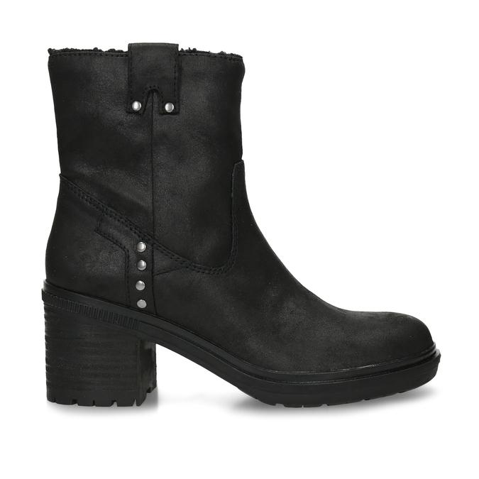 Dámská kotníková obuv s kožíškem v černé barvě bata, černá, 599-6611 - 19