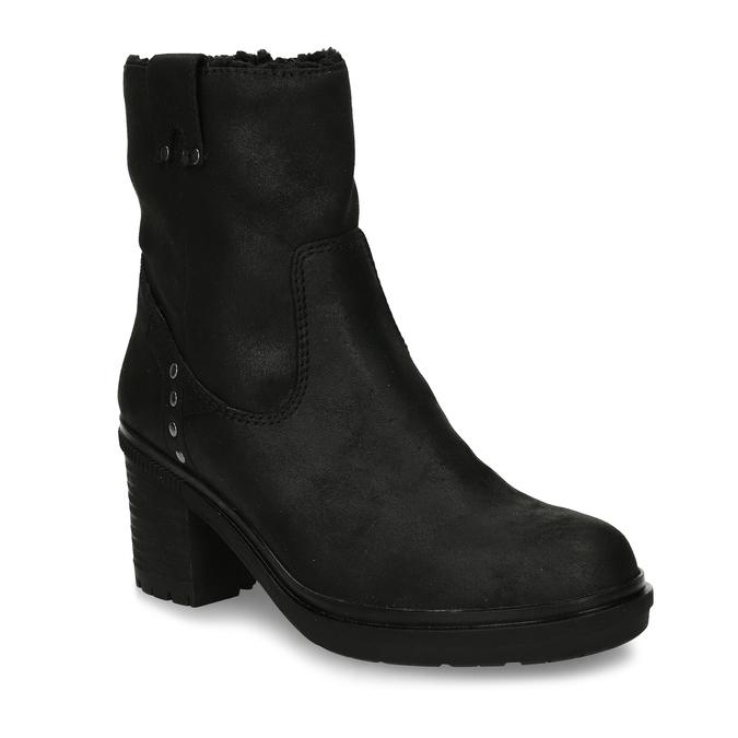 Dámská kotníková obuv s kožíškem v černé barvě bata, černá, 599-6611 - 13