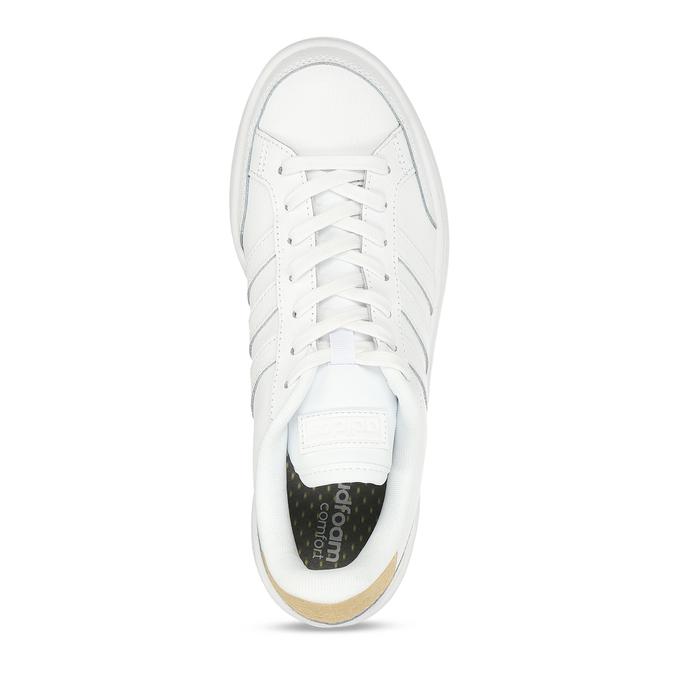 Bílé dámské tenisky s hadím detailem adidas, bílá, 501-1471 - 17