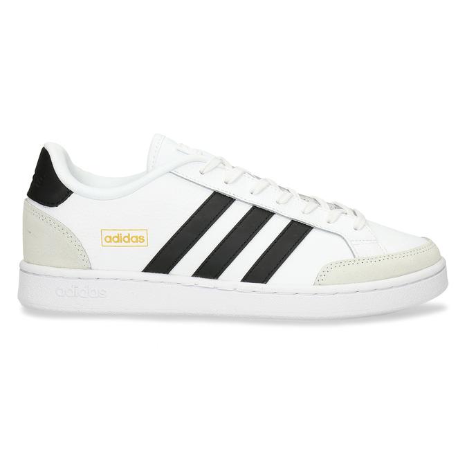 Bílé pánské tenisky s černými pruhy adidas, bílá, 801-1292 - 19