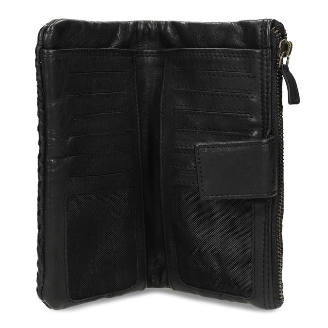 Dámská černá kožená peněženka bata, černá, 944-6111 - 15