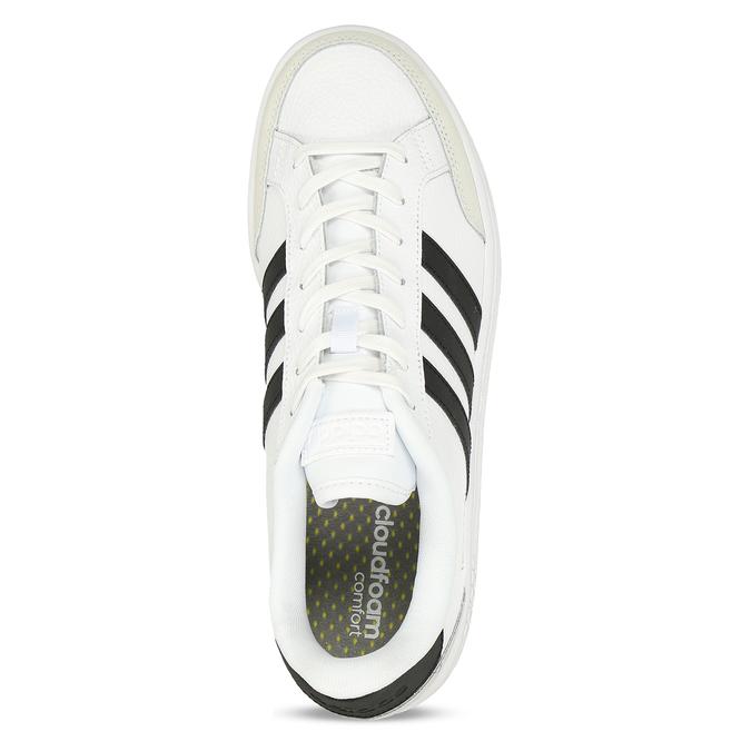 Bílé pánské tenisky s černými pruhy adidas, bílá, 801-1292 - 17