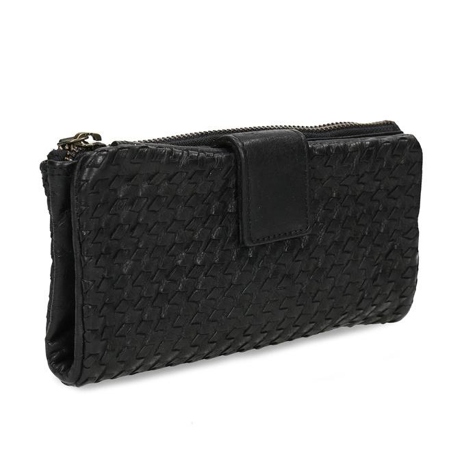Dámská černá kožená peněženka bata, černá, 944-6111 - 13