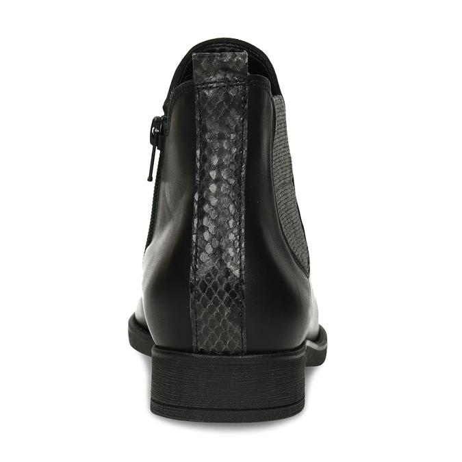 Dámská černá kožená Chelsea obuv gabor, černá, 594-6360 - 15