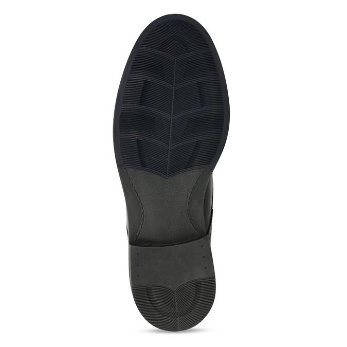 Pánská kotníková obuv v černé kůži a zipy na stranách bata, černá, 894-6610 - 18