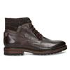 Pánská kotníková obuv z tmavě hnědé kůže bata, hnědá, 896-4615 - 19