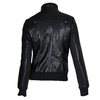 Černá dámská koženková bunda na zip bata, černá, 971-6261 - 26