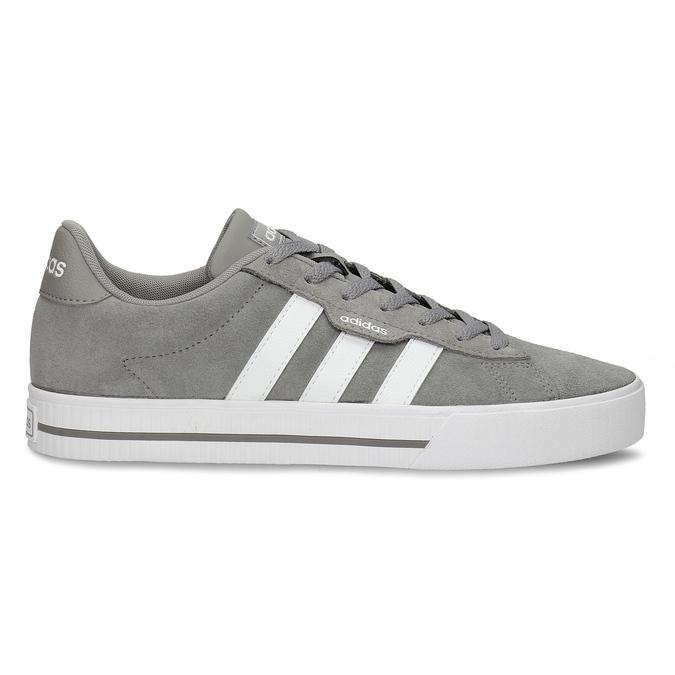 Kožené pánské tenisky v šedobílé variantě adidas, šedá, 803-2372 - 19
