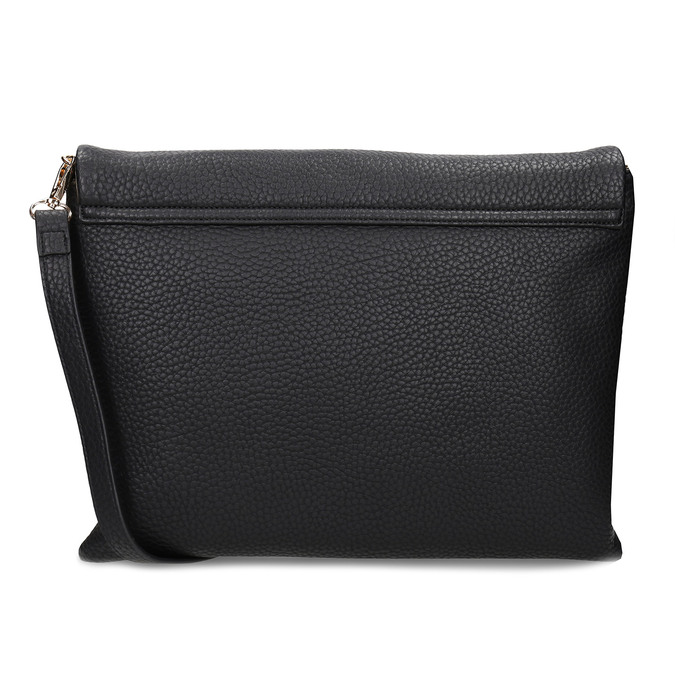 Dámská koženková kabelka s klopu na zip bata, černá, 961-6602 - 16