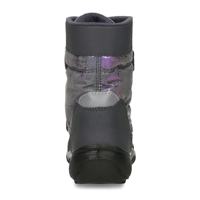 Zimní obuv dětská šedá s metalickými odlesky richter, šedá, 299-2603 - 15