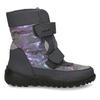Zimní obuv dětská šedá s metalickými odlesky richter, šedá, 299-2603 - 19
