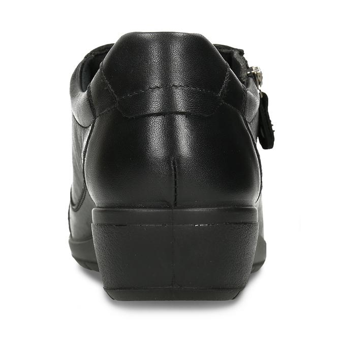 Černá kožená dámská polobotka se šněrováním comfit, černá, 524-6635 - 15