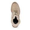 DÁMSKÁ KOTNÍČKOVÁ ŠNĚROVACÍ OBUV Z BROUŠENÉ KŮŽE bata, béžová, 596-4631 - 17