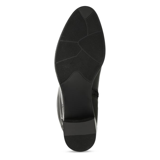 Kožené kozačky pod kolena bata, černá, 694-6656 - 18
