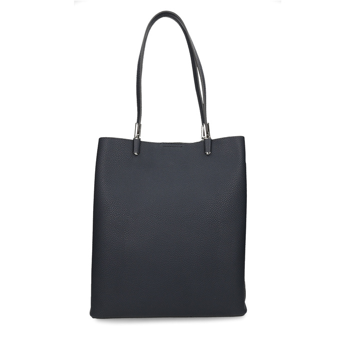 Minimalistická tmavě modrá kabelka s tenkými uchy bata, modrá, 961-9648 - 26