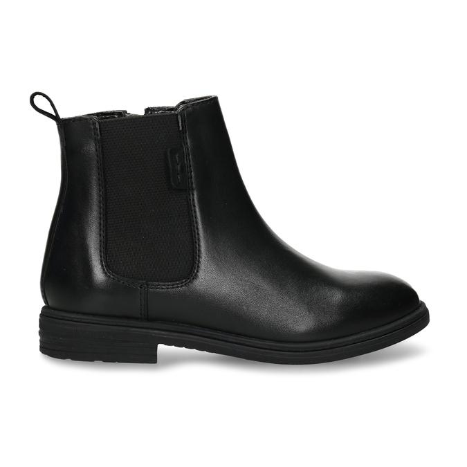 Černá dívčí kožená Chelsea obuv mini-b, černá, 424-6601 - 19
