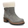 Zimní dámské kožené boty s kožíškem weinbrenner, šedá, 596-2603 - 13
