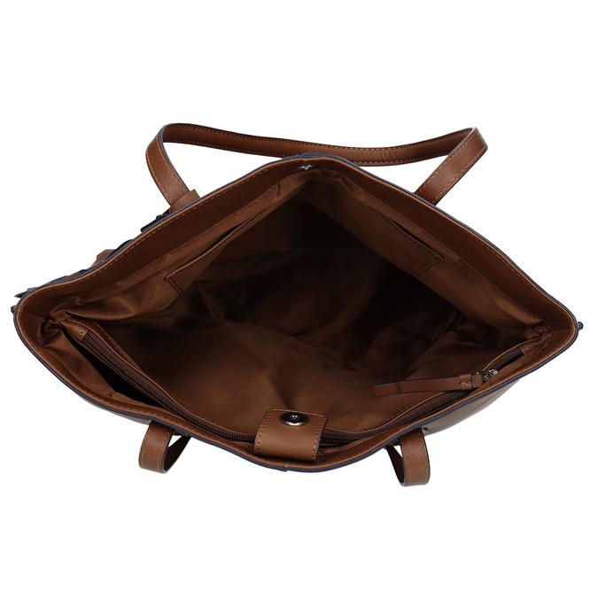 Hnědá kožená kabelka střední velikosti bata, hnědá, 964-4608 - 15