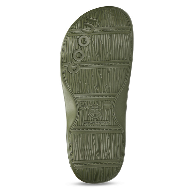 Khaki pánské pantofle se zateplením coqui, zelená, 872-7711 - 18