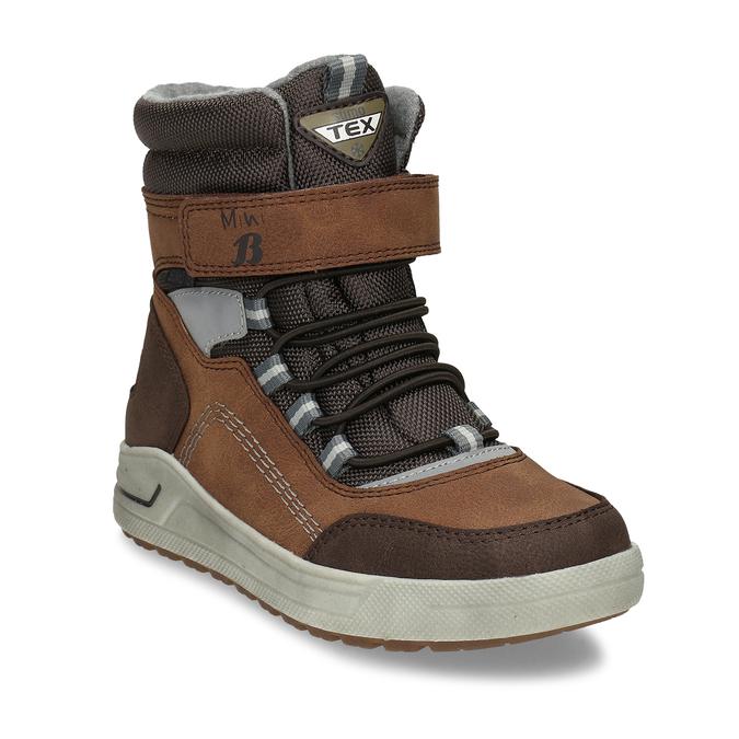 Chlapecká hnědá zimní obuv mini-b, hnědá, 311-4602 - 13