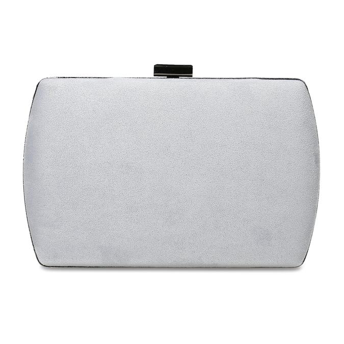 Šedá kabelka s kovovým zapínáním i uchem bata, šedá, 961-2915 - 26