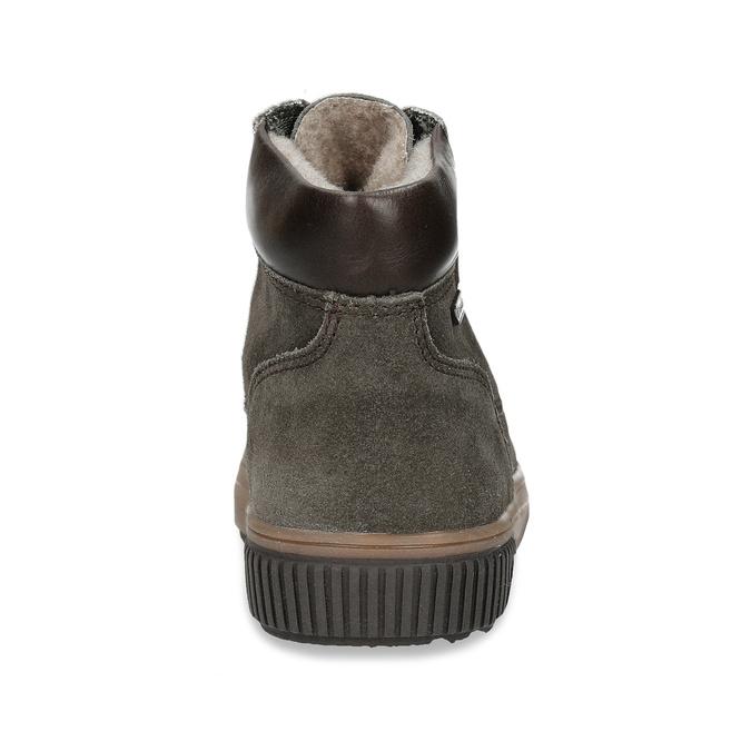 Šedé kožené chlapecké kotníkové tenisky richter, šedá, 313-7606 - 15