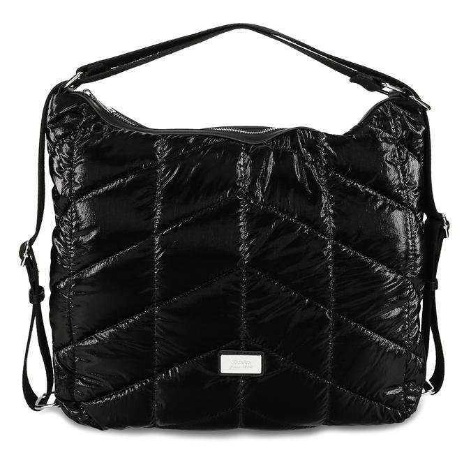Černá prošívaná kabelka s nastavitelným uchem bata, černá, 961-1617 - 26
