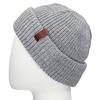 Šedá pletená čepice s ohrnutým okrajem bata, šedá, 909-2690 - 26