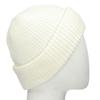 Béžová pletená čepice s ohrnutým okrajem bata, bílá, 909-1690 - 13