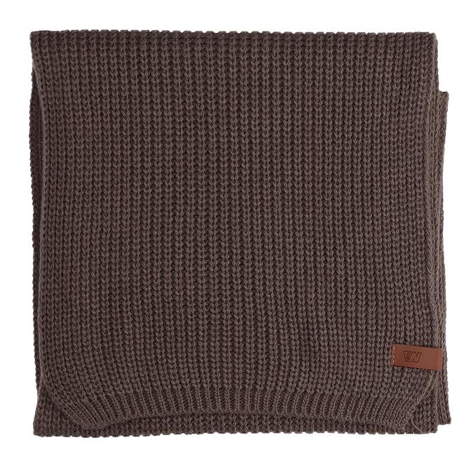 Hnědá pletená šála bata, hnědá, 909-8691 - 13