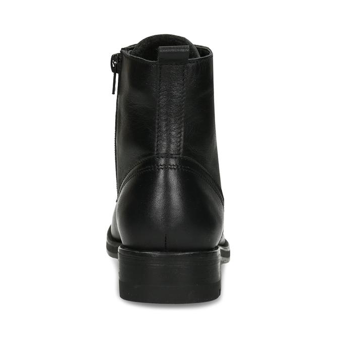 Černá dámská kožená kotníková obuv bata, černá, 594-4633 - 15