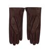 Hnědo-červené dámské kožené rukavice junek, červená, 944-5212 - 16