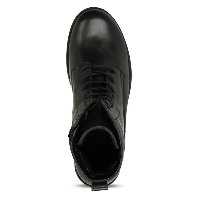 Černá dámská kožená kotníková obuv bata, černá, 594-4633 - 17