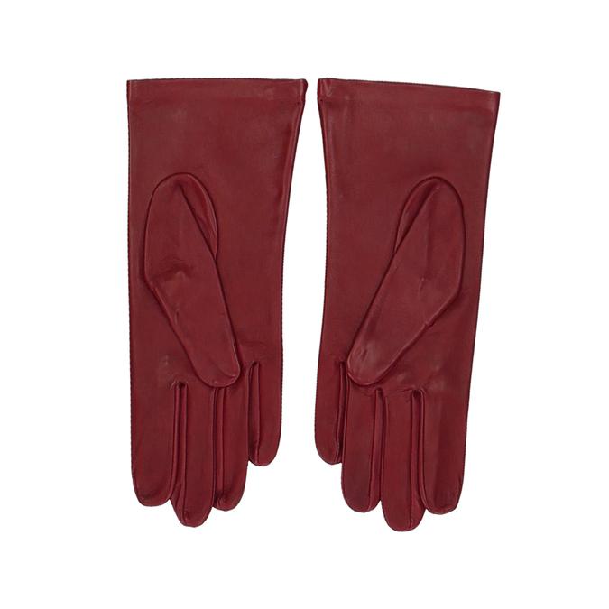 Červen dámské kožené rukavice junek, červená, 944-5101 - 16