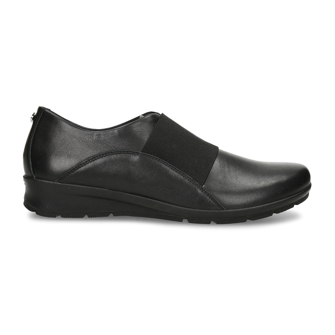 Černá kožená dámská obuv s pružením na nártu comfit, černá, 524-6640 - 19