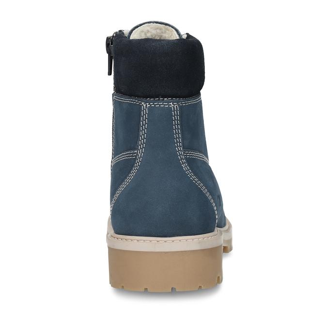 Modrá dětská kožená kotníková obuv zimní weinbrenner, modrá, 416-9614 - 15