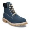 Modrá dětská kožená kotníková obuv zimní weinbrenner, modrá, 416-9614 - 13