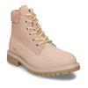Světle růžová kožená dívčí kotníková obuv weinbrenner, růžová, 426-5614 - 13